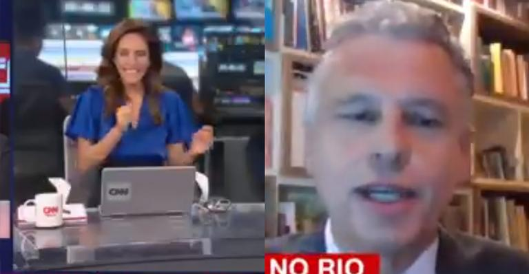 Sem pudores, ele ficou de pé durante telejornal da CNN e protagonizou momento controverso