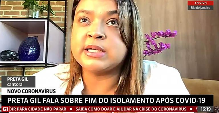 Na GloboNews, cantora chegou a se emocionar ao falar das dúvidas e incertezas após o contágio