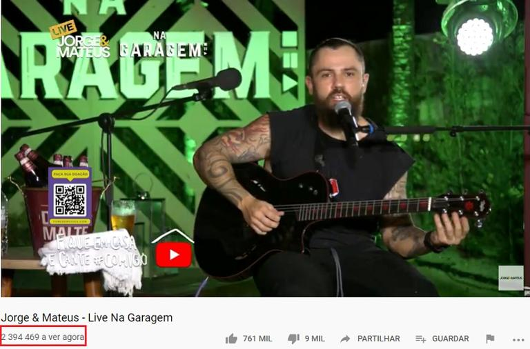 Live de Jorge e Mateus recebe mais de 2 milhões de acessos ...