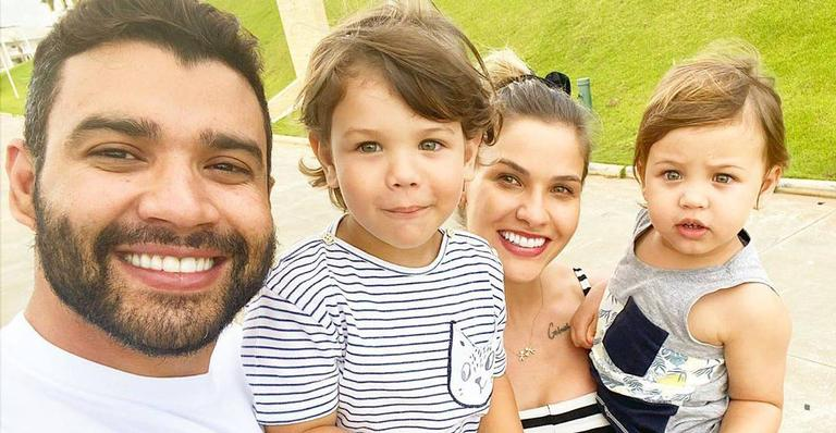 Esposa de Gusttavo Lima encanta famosos ao exibir momento ao lado do marido e dos filhos