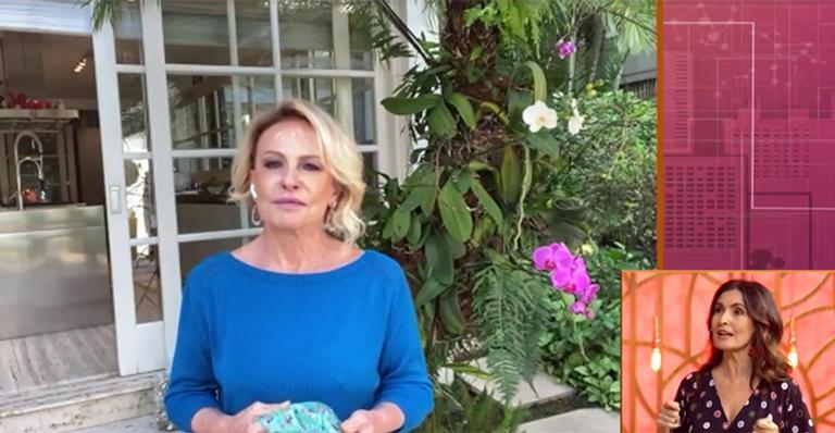 Apresentadora falou sobre saudades do trabalho e tratamento contra câncer em live com Fátima Bernardes