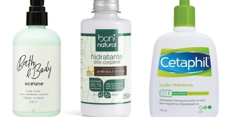 Loção, óleos e hidratantes para nutrir e deixar sua pele renovada