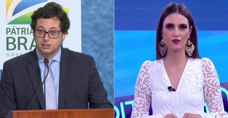 Em reagiu em resposta às declarações da apresentadora ao vivo no SBT