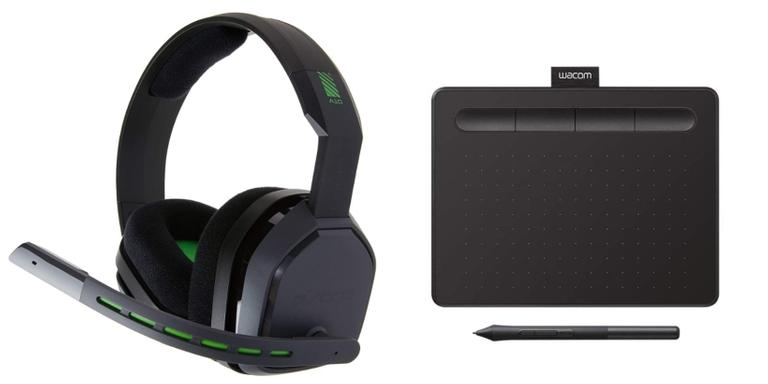 Notebook, mesa digitalizadora e webcam para uso profissional e de lazer