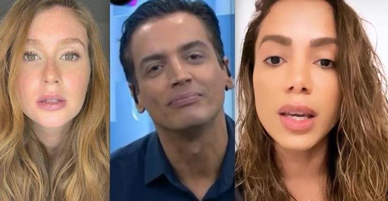 Suposta troca de mensagens entre o jornalista e a atriz da TV Globo deixou fãs perplexos