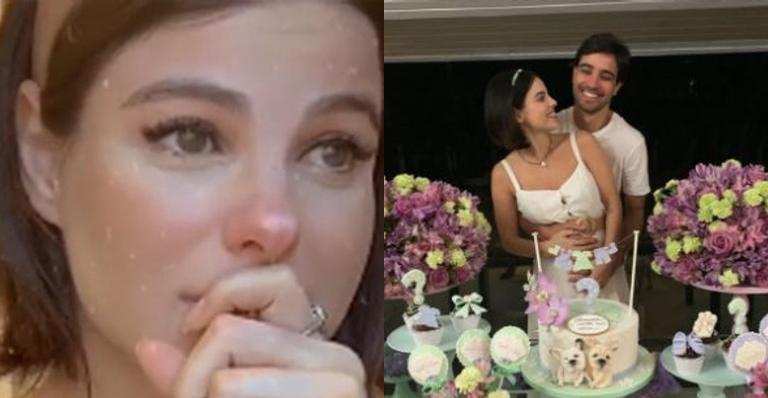 Feliz da vida, atriz relata que em seis meses reatou o casamento e engravidou