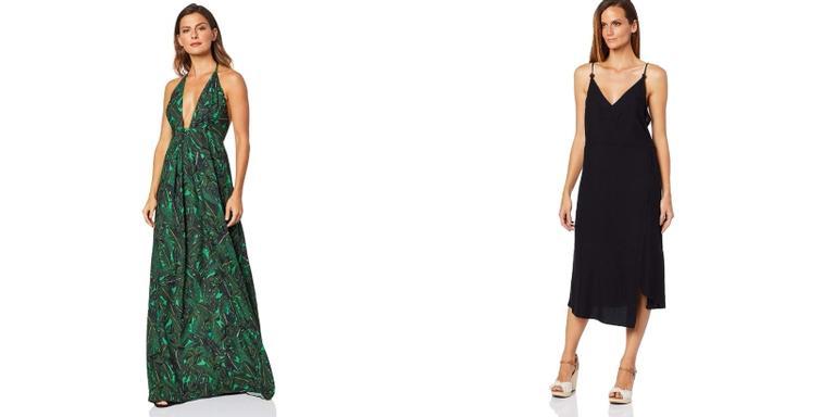 Vestido, sapato e bolsa super estilosos disponíveis na Amazon