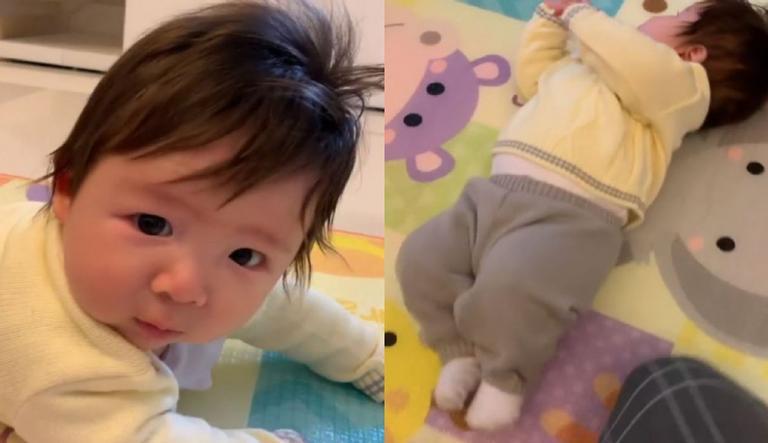 Com apenas 3 meses, o pequeno Jake Lee já mostra que é bem espertinho; veja