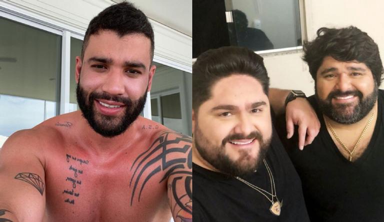 O sertanejo divertiu os internautas ao compartilhar montagem do irmão, Fabiano, ao lado de Gusttavo Lima