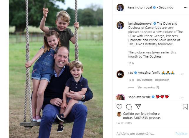 Eles cresceram! Príncipe William reúne os três filhos em foto ...