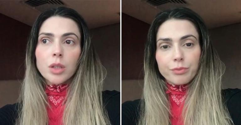Abalada, ela contou que está sendo massacrada nas redes sociais desde que expôs intimidade do casal