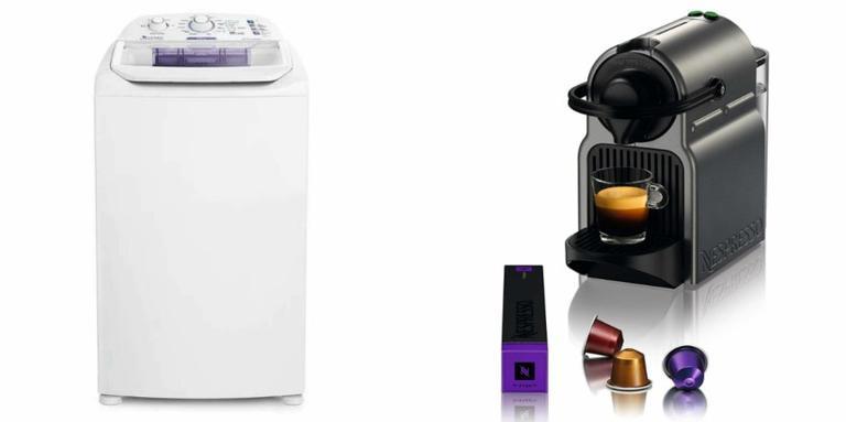 Cortina, geladeira e cafeteira perfeitas para uma casa completa e funcional