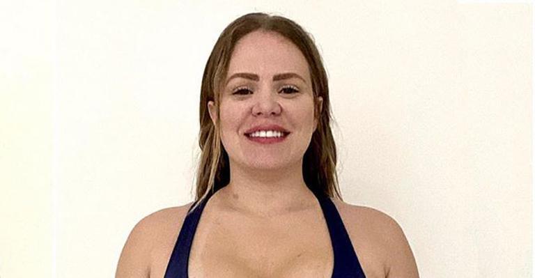 A loira mostrou a mudança no corpão após ter se dedicado a uma dieta restritiva e exercícios diários