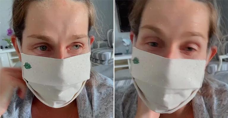 Diagnosticada com o coronavírus, a apresentadora revelou sua rotina na primeira semana pós-parto