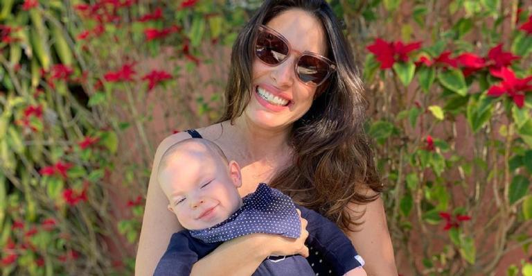 A atriz usou as redes sociais para homenagear o filho nessa data especial