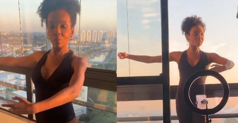 Vencedora do reality mostrou que está com a corda toda durante as aulas de balé adaptadas
