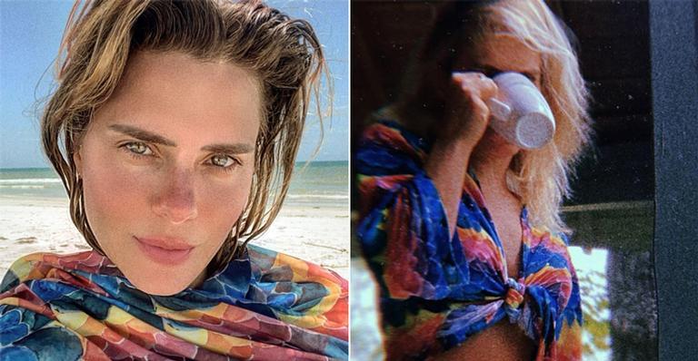 Em clique natural, a atriz colocou o corpo para jogo e foi elogiada por seguidores: