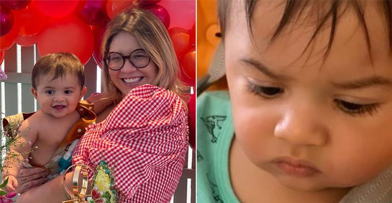 A sertaneja mostrou 'careta' do filho ao se deparar com prato saudável: