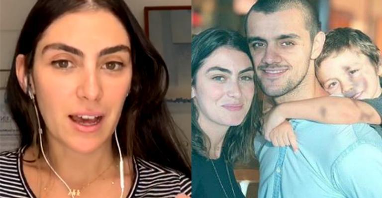Esposa de Felipe Simas desabafa e diz que relação com o filho está estremecida: