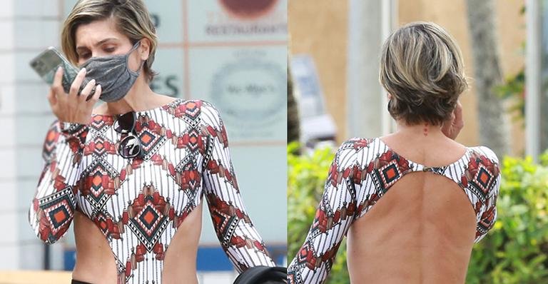Dona de um corpão, atriz da TV Globo escolheu look nada básico para cumprir a rotina de exercícios