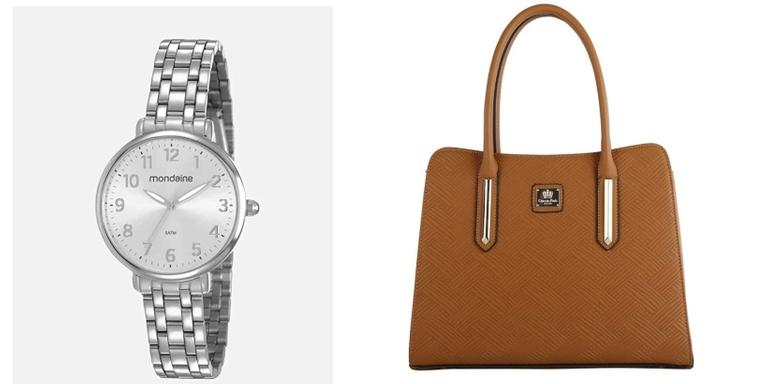 Bolsas, relógios e mochilas incríveis com desconto