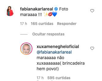 Xuxa Meneghel brinca com suposta rivalidade com Mara Maravilha