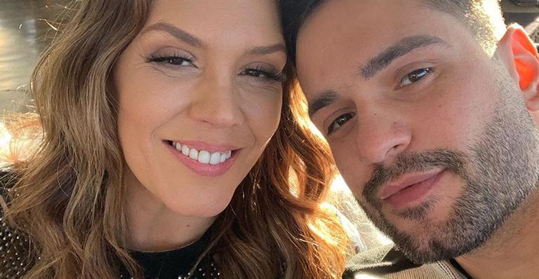 A cantora compartilhou um registro bem íntimo com Felipe Rodriguez nas redes sociais