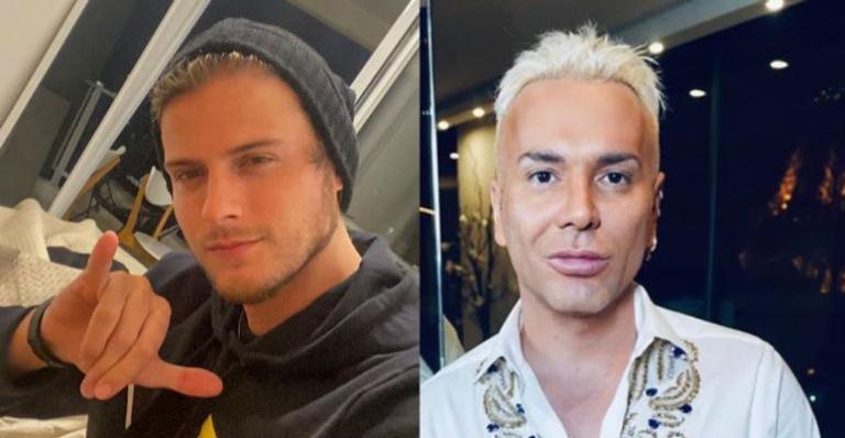 O ex-brother e Matheus Mazzafera foram flagrados aos beijos nos bastidores de gravações