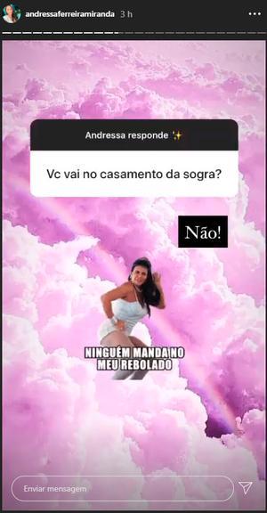 Andressa Ferreira e Thammy Miranda não vão ao casamento de Gretchen