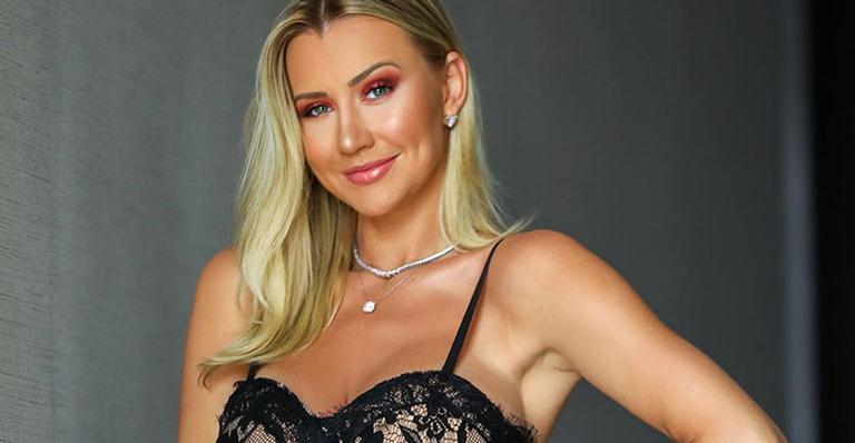 De renda e bem sensual, modelito escolhido por Ana Paula Siebert deixou os fãs perplexos; veja