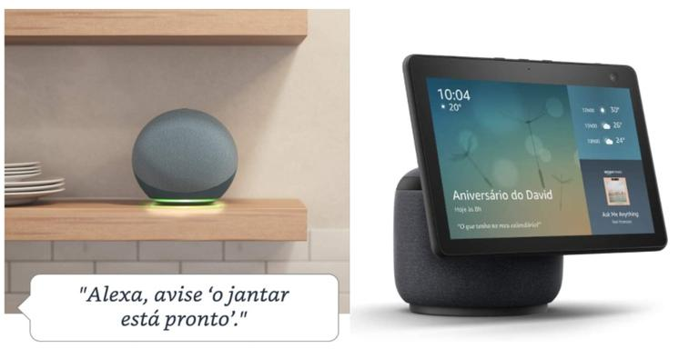 Com design diferenciado e alta tecnologia, os novos dispositivos Echo combinam estilo e praticidade