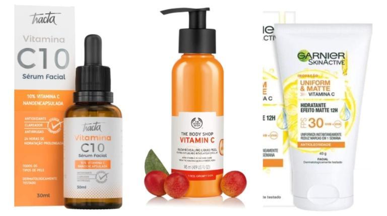 Sérum, hidratante, tônico e outros produtos para quem deseja incluir a Vitamina C no skincare