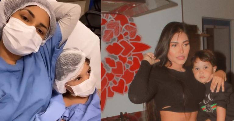 Cantora compartilha momentos do menino dentro do hospital e agradece preocupação