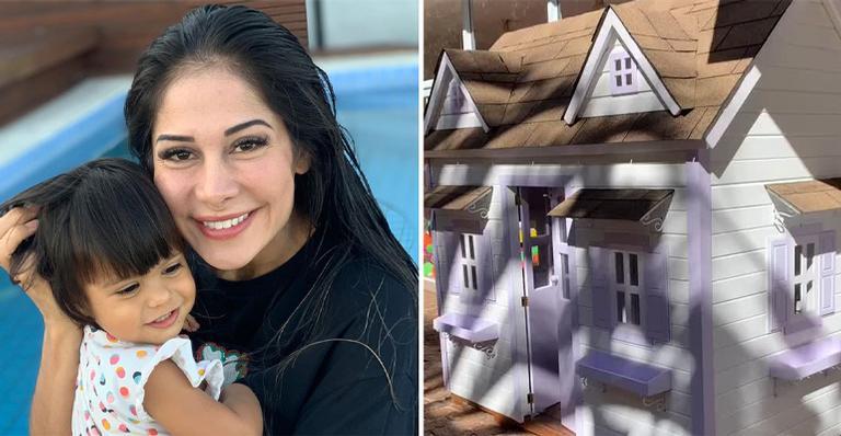 A life coach investiu em casinha de brinquedo para a filha de 2 anos e mostrou detalhes nas redes