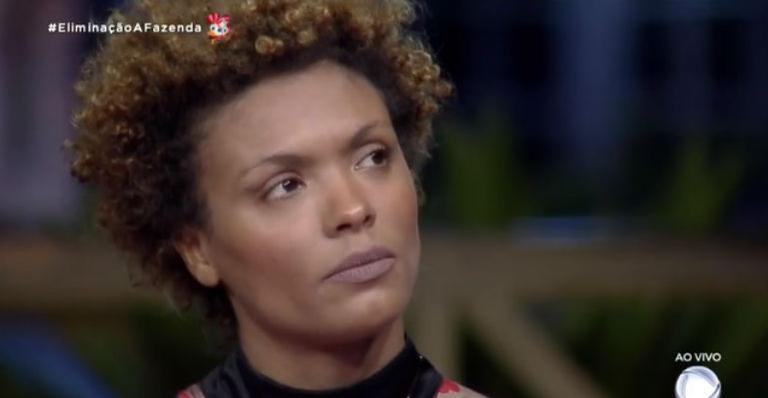 A atriz foi a menos votada pelo público e deixou a zona rural com apenas 16,51% doS votos