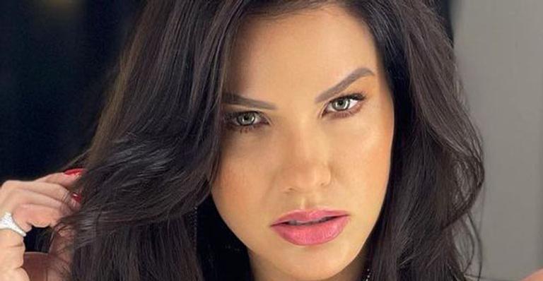 Conhecida pela beleza rara, ex de Gusttavo Lima aproveitou a madrugada para sensualizar nas redes sociais