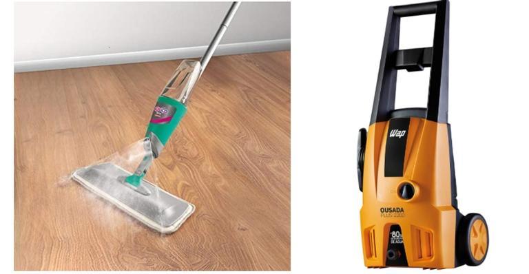 Mop spray, lavadora e aspirador super práticos para te ajudar a organizar a casa
