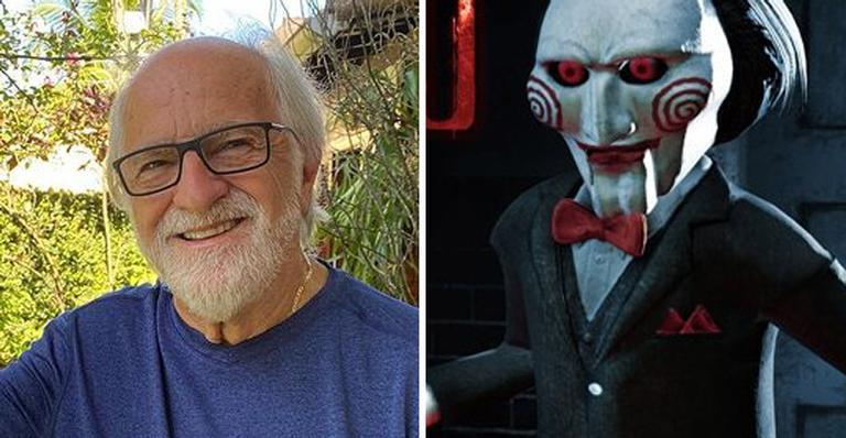Nas redes, o ator compartilhou vídeo onde personifica Jigsaw, o vilão da franquia de filmes de terror