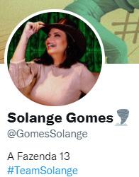 Solange Gomes no Twitter